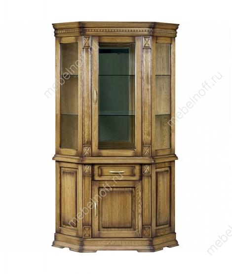 Угловой комбинированный шкаф Верди А 1уз с витриной