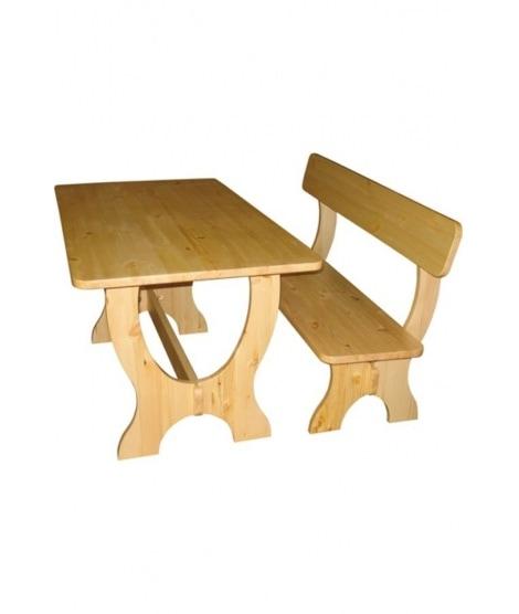 Нераздвижной стол ОМ-1200с из натурального дерева