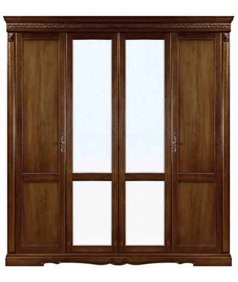 Четырехдверный шкаф Милана П294.02 с 2 зеркалами