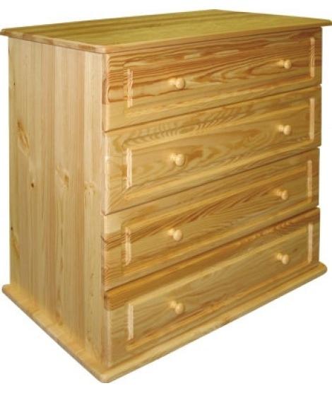 Деревянный комод Км-4 с 4 ящиками