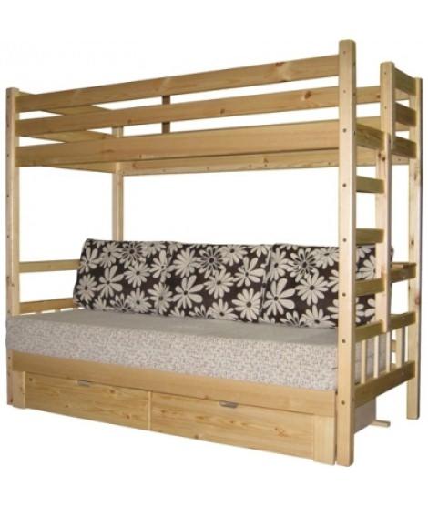Детская двухъярусная кровать К-2кя без мягкой части