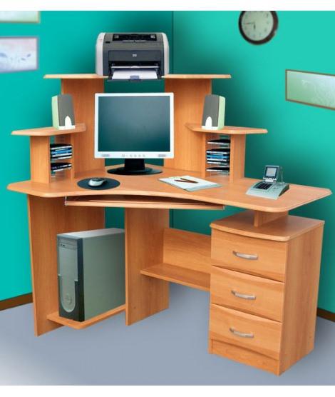 Стол компьютерный СК-100 с угловой надстройкой
