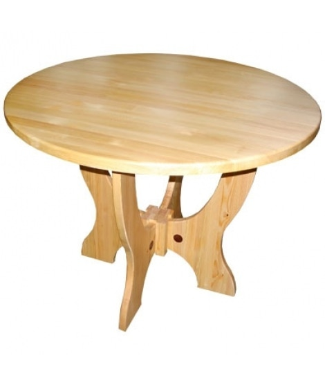 Круглый стол ОМ-Круг из массива