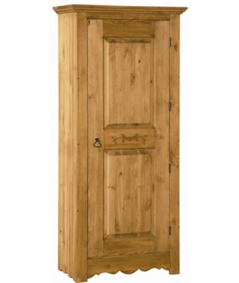 Однодверный шкаф для белья с резьбой на двери ВО 194SC