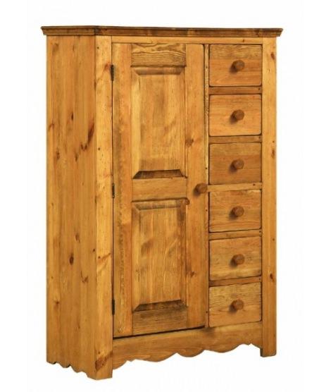 Небольшой шкаф для посуды ФАР 1 с дверцей и 6 ящиками