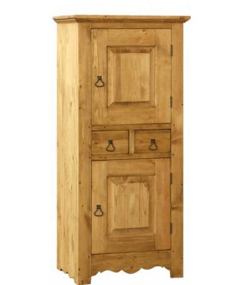 Небольшой шкаф для посуды с 2 дверями и 2 ящиками