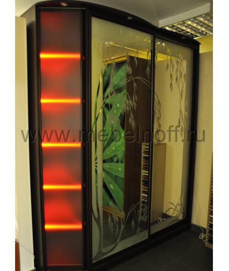 Шкаф купе с рисунком на зеркале (модель 4)
