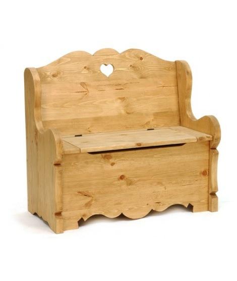 Деревянная скамья сундук 100 из массива
