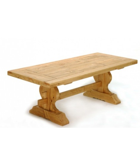 Красивый стол Монастырский 1800 или 2200  с 2 резными ножками