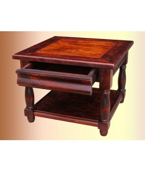 Квадратный журнальный столик ОВ 13 02 из массива дерева