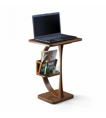 Стол компьютерный из дерева Zzibo Орех с золотом арт. 108