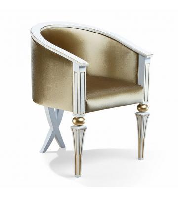 Кресло арт. 150 бМ Белый с золотом