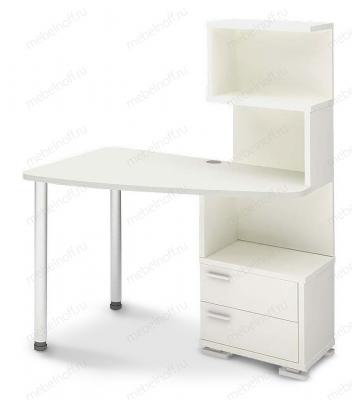 Стол компьютерный Домино нельсон СКМ-60 белый/хром