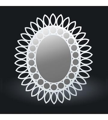 Зеркало из дерева Белый арт. 177