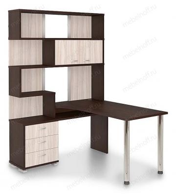 Стол компьютерный Домино СР-420150 венге/карамель/хром