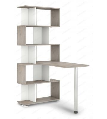 Стол компьютерный Домино нельсон СЛ-5СТ белый жемчуг/нельсон/хром