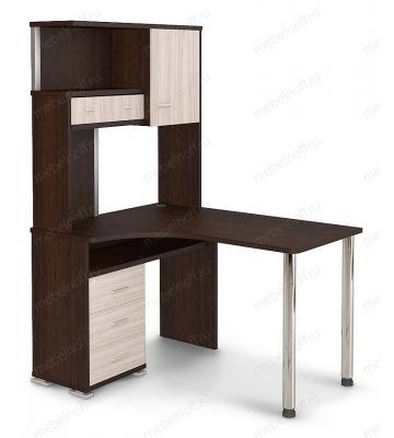 Стол компьютерный Домино СР-130 венге/хром