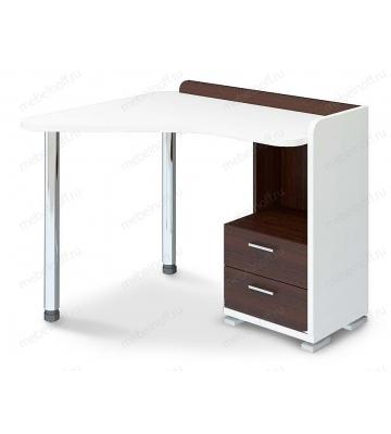 Стол письменный Домино СКМ-55 белый/венге/хром