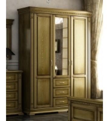 Трехдверный шкаф Верди П095.10 с зеркалом и 3 ящиками