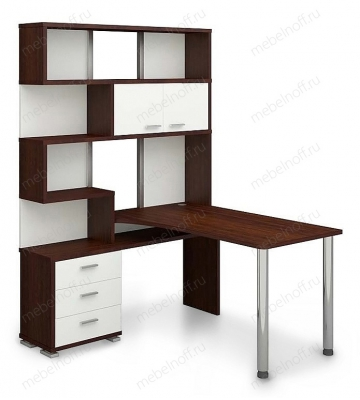 Стол компьютерный Домино СР-420-150 белый/венге/хром