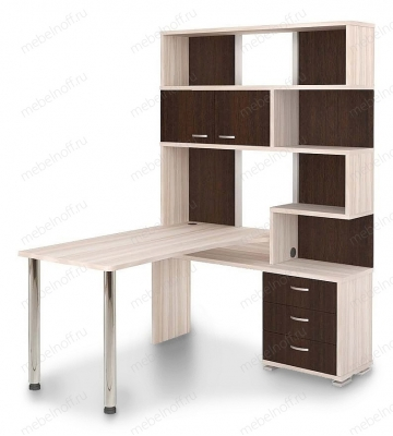 Стол компьютерный Домино СР-420170 венге/карамель/хром