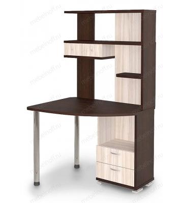 Стол компьютерный Домино СК-20 венге/карамель/хром