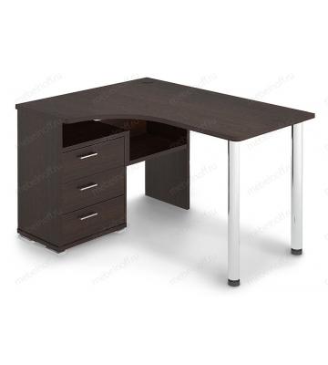 Стол письменный Домино СР-132С венге/хром