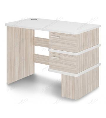 Стол письменный СД-15 белый жемчуг/карамель