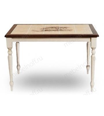 Стол обеденный СТ 3045Р белый античный/темный дуб
