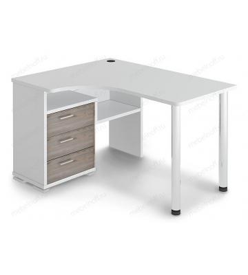 Стол письменный Домино СР-132С белый жемчуг/хром