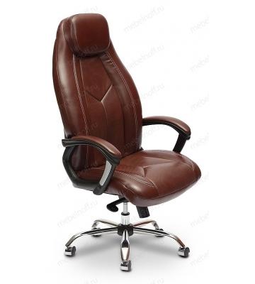 Кресло для руководителя BOSS люкс коричневый