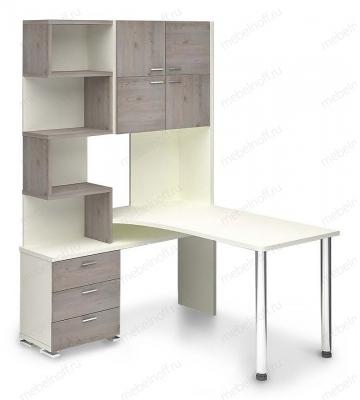 Стол компьютерный Домино нельсон СР-500М190 белый/нельсон/хром