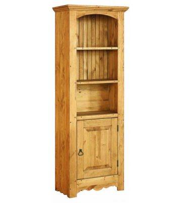 Узкий стеллаж с дверью для книг