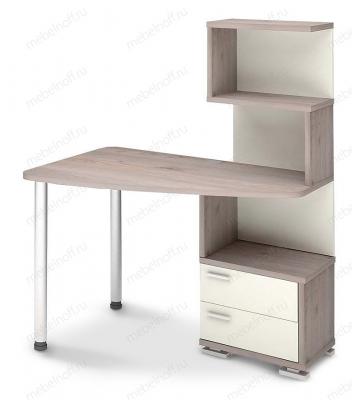 Стол компьютерный Домино нельсон СКМ-60 белый/нельсон/хром