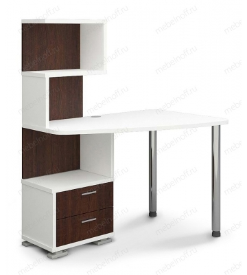 Стол компьютерный Домино СКМ-60 белый/венге/хром