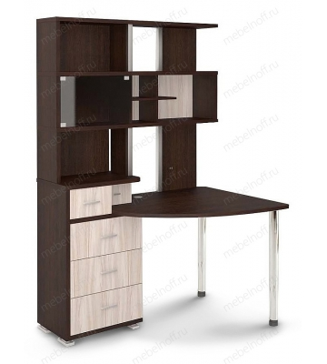 Стол компьютерный Домино СР-320 венге/карамель/хром