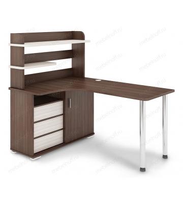 Стол компьютерный СР-145М карамель/хром/шамони
