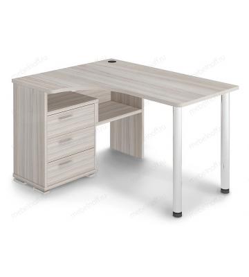 Стол письменный Домино СР-132С карамель/хром