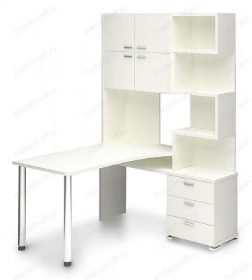 Стол компьютерный Латте СР-500М160 белый/хром