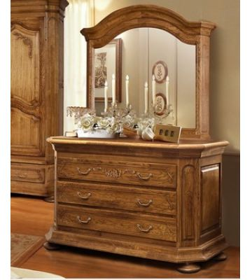 Широкий комод Босфор с зеркалом  с 3 ящиками