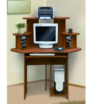 Угловой компьютерный стол СК-10 с надстройкой