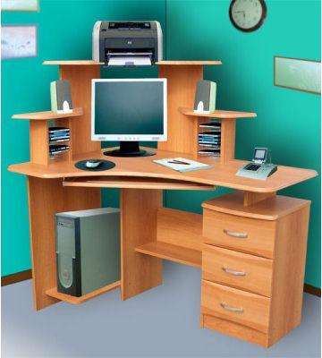 Стол компьютерный СК-100 с угловой надстройкой (левая и правая конфигурации)