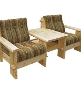 Кресло-тандем К-5st со столом