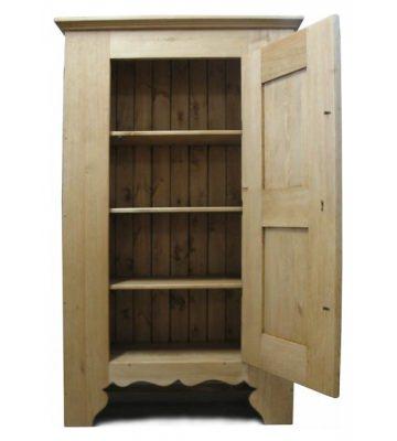 Однодверный шкаф для белья Морзин с 3 полками
