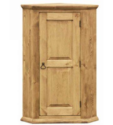 Однодверный угловой шкаф для белья с 2 полками