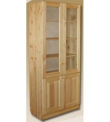 Шкаф для книг Шк-Б из массива сосны