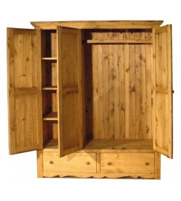 Комбинированный шкаф для одежды с полками и штангой