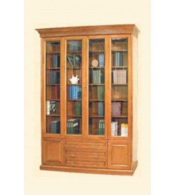 Шкаф книжный четырехдверный Государь