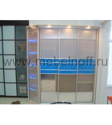 Шкаф купе с комбинированными дверями (модель 15)