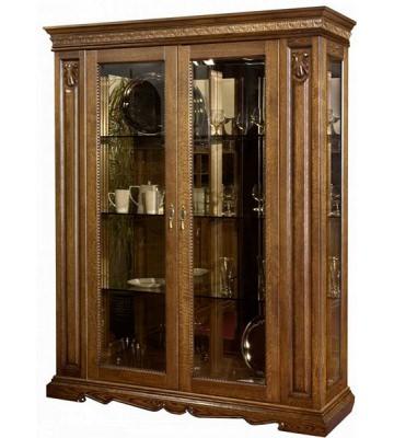 Двухдверный шкаф с витриной Милана 5